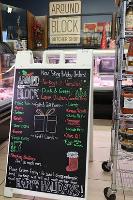 Around the Block Butcher Shop - Holiday