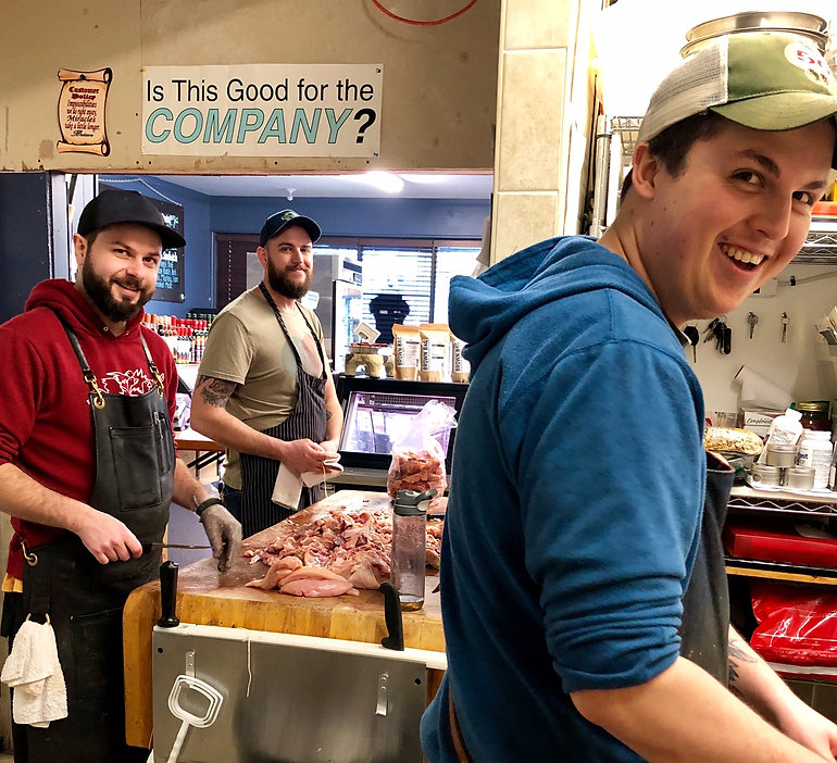 The team at Around the Block Butcher Sho