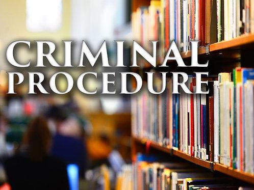 Criminal Procedure booklet - PDF
