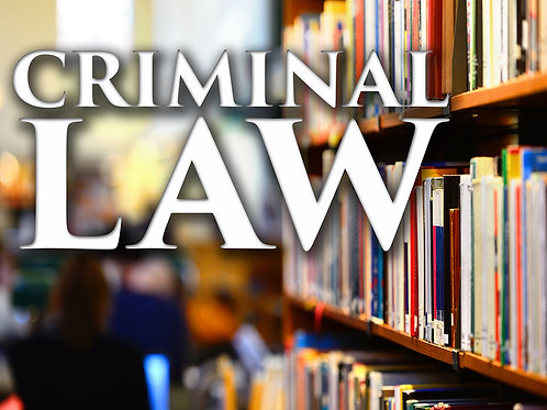Criminal Law booklet - hardcopy