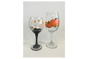 Wine glasses Halloween candy-pumpkin.png
