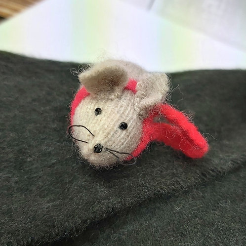 Wee Mouse Brooch by Audrey's Altered Art