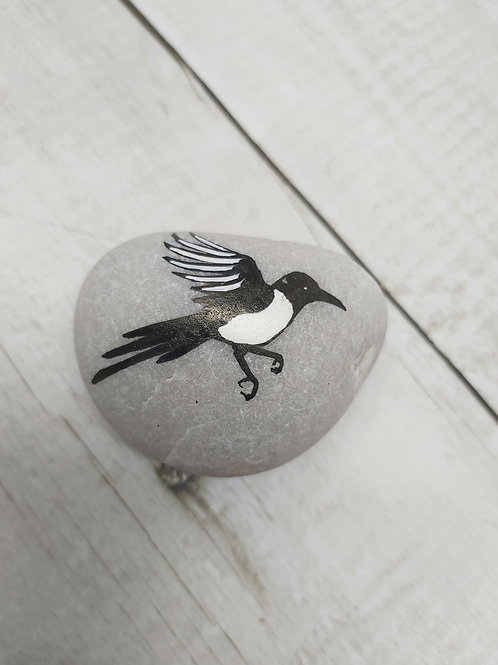 """Pebble Magpie """"Sorrow Stone"""" by PaperPineTree"""