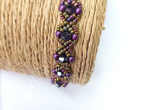Handwoven Bead Bracelet by Bumblebead Crafts