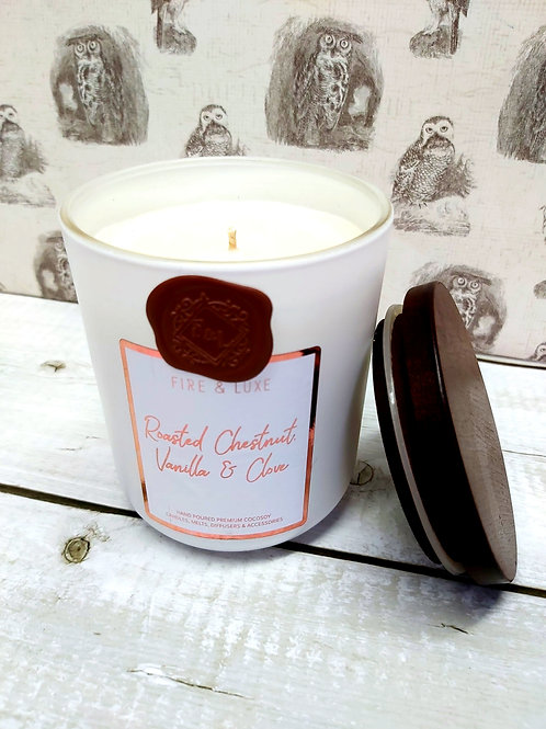 Roasted Chestnut & Clove Candle  by Fire & Luxe