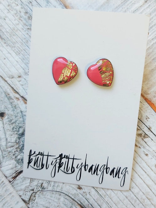 Heart Shaped Earrings by Knitty Kitty Bang Bang