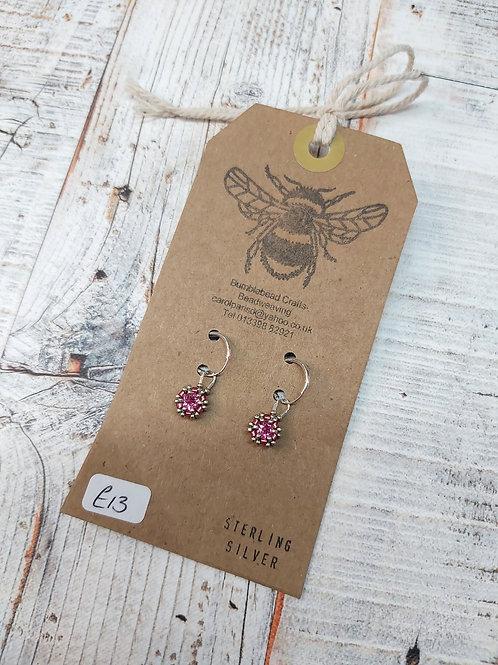 Sterling Silver sparkling drop earrings