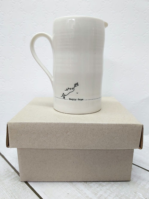 Happy days ... porcelain jug by East of India