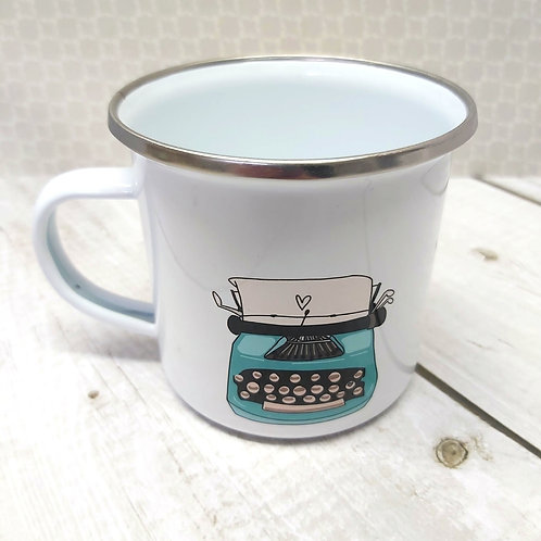 Blue Wasp Creative Typewriter Mug