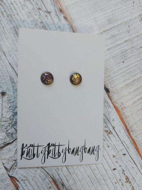 Stud earrings by Knitty Kitty Bang Bang