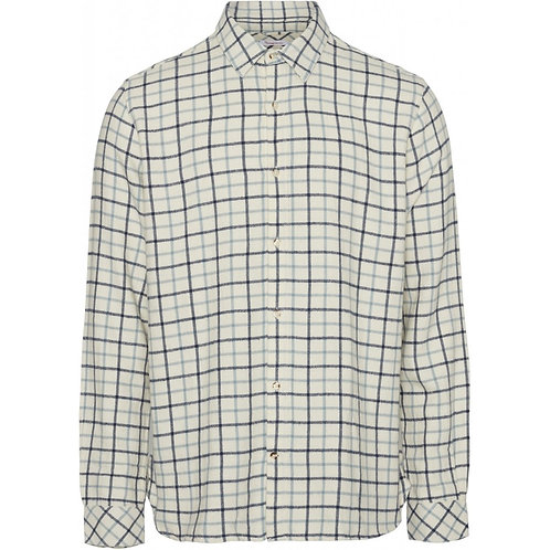 KnowledgeCotton Apparel - LARCH Casual Fit Big Checked Flannel Shirt
