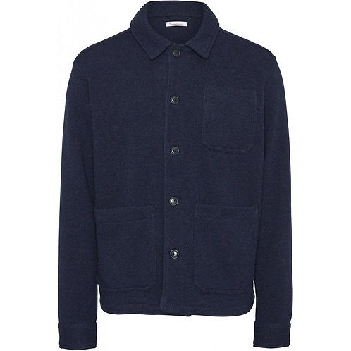 KnowledgeCotton Apparel - Pine Functional Wool Overshirt
