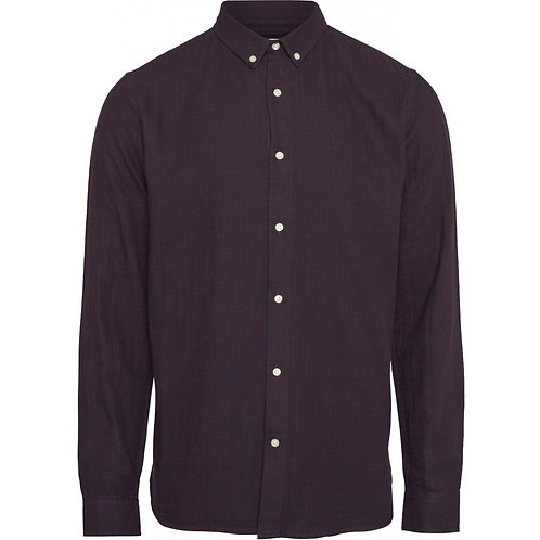 KnowledgeCotton Apparel - LARCH Casual Fit Zig-Zak Shirt