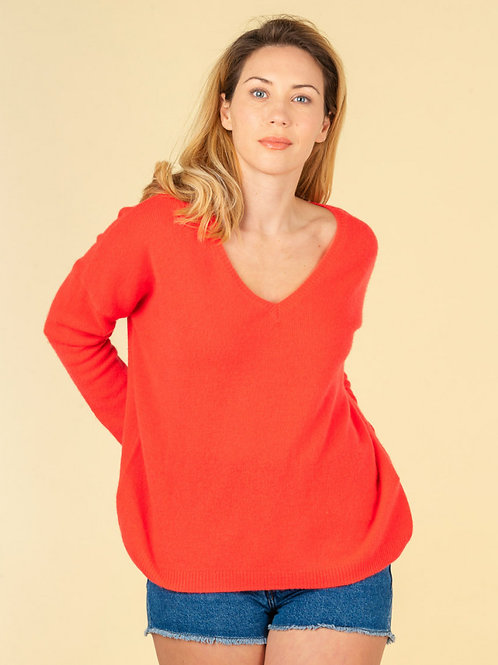 Absolut Cashmere - Mercedes Loose Sweater Neon Coral