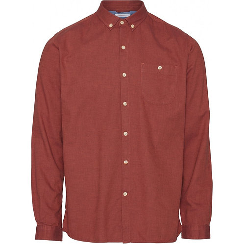 KnowledgeCotton Apparel - ELDER Melange Flannel Shirt