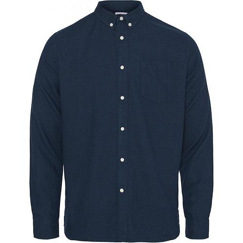 KnowledgeCotton Apparel - LARCH Casual Fit Zig-Zak Shirt