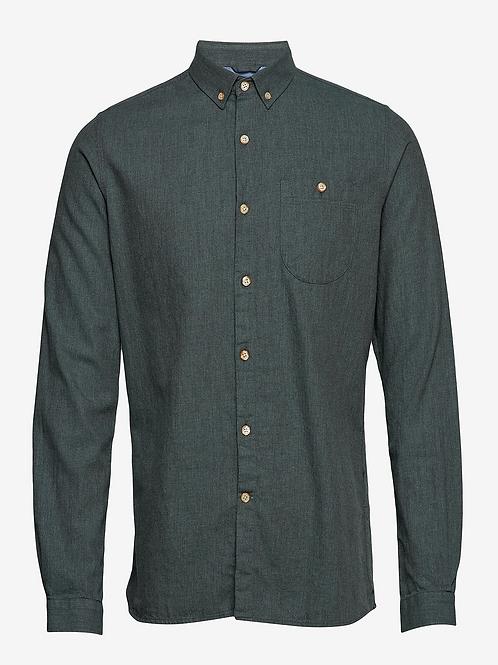 KnowledgeCotton Apparel - ELDER Melange Flannel Shirt