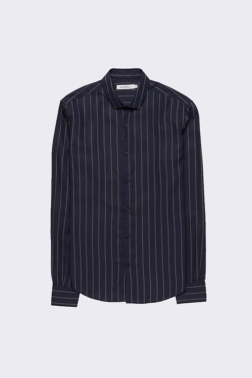 The GoodPeople - Sean Striped Tencel Shirt