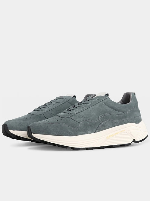 Garment Project - Bailey Runner Conifer Suede / Off White