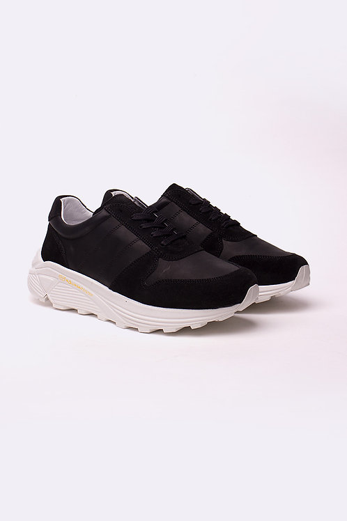 Garment Project - Runner Black Leather / Suede