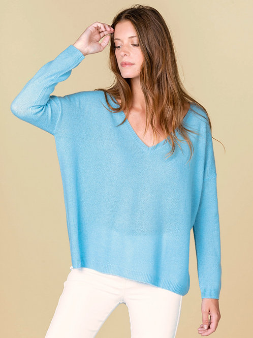 Absolut Cashmere - Mercedes Loose Sweater Azur