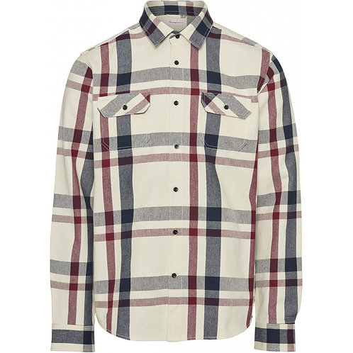 KnowledgeCotton Apparel - Pine Casual Fit Heavy Checked Overshirt