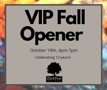 VIP Fall Opener Event Ticket