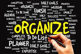 Plan To Be Organized!