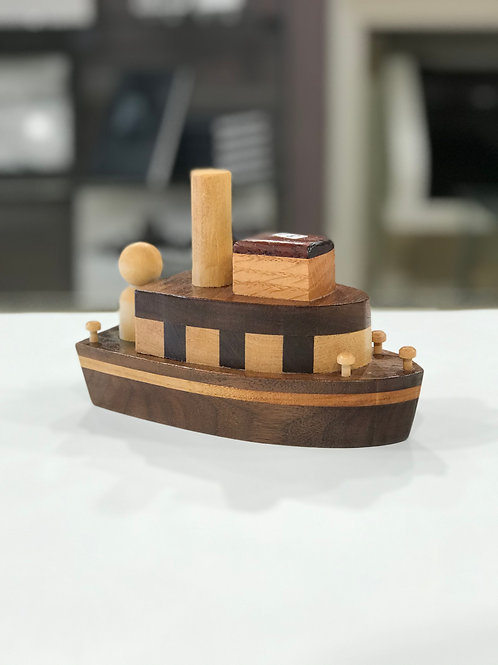 Handcrafted Wood Boat