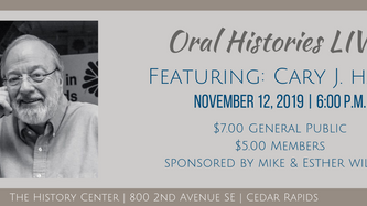 Oral Histories LIVE! Featuring: Cary J. Hahn