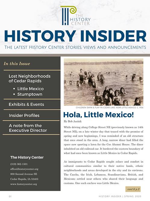 History Insider (Spring 2020 Edition)
