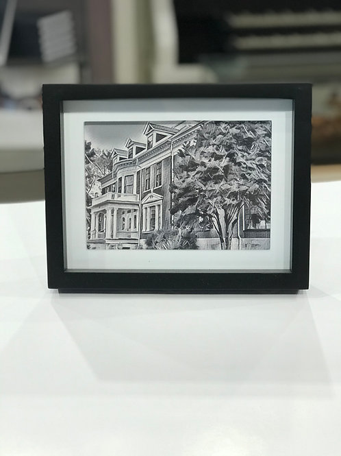 Douglas Mansion Framed Print