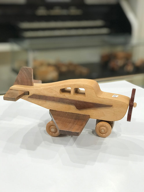 Handcrafted Wood Airplane