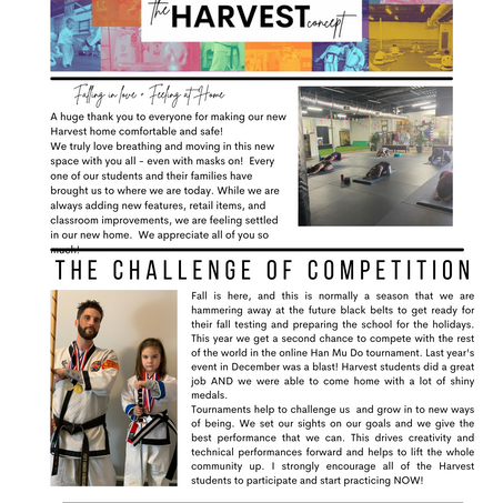1st Edition of the Harvest Newsletter!