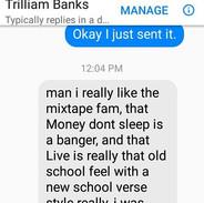 Shout out California DJ Trillium Banks f