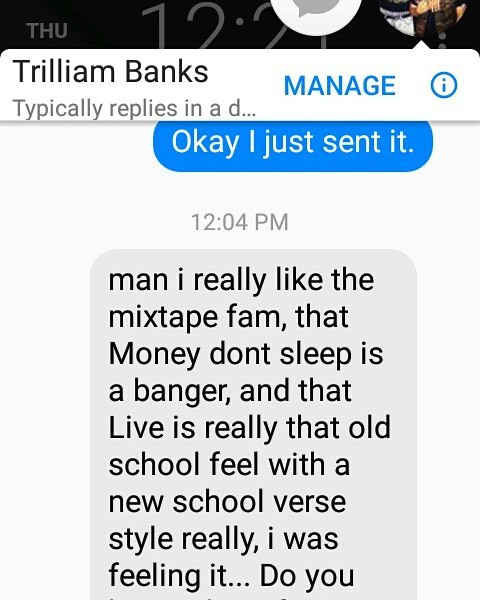 Shout out California DJ Trillium Banks f