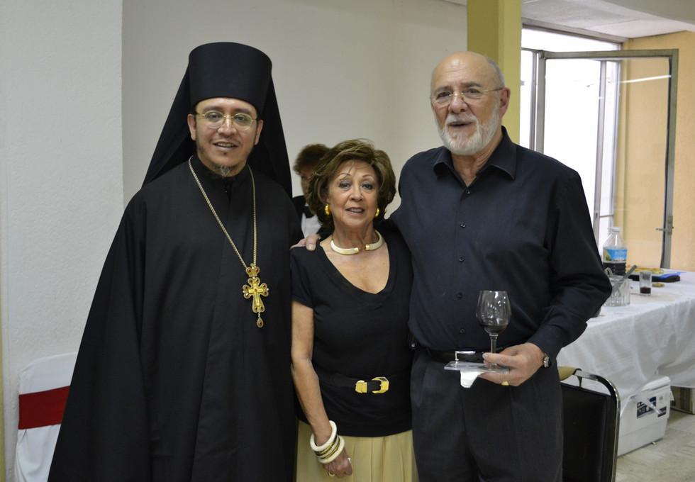 Со старостой Александром Олеговичем Зайцевским и его супругой