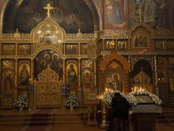 Всенощная под Престольный Праздник кафедрального собора в честь иконы Божьей Матери «Все скорбящих Р