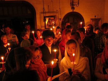 Пасхальная Литургия в Свято-Троицком монастыре.