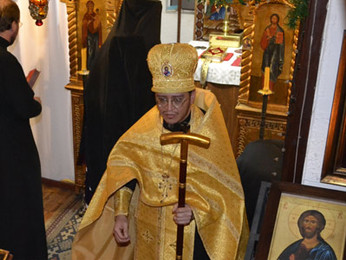Возведение отца Нектария в сан Архимандрита