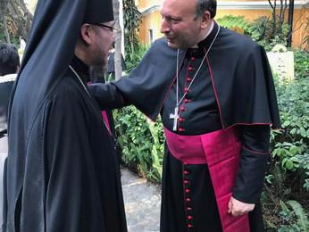 Прием в Апостольской нунциатуре по случаю шестой годовщины понтификата Папы Франциска