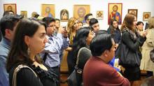 """Первая выставкаправославных икон, написаных иконостудией Свято-Троицкого монастыря:""""Иконы: окн"""