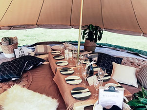 Glamping and pop up picnics in Canberra