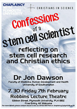 Confessions of a Stem Cell Scientist Poster