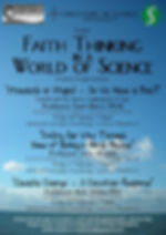 Faith Thinking in a World of Science Poster