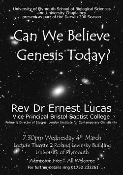 Can we Believe Genesis Today Poster