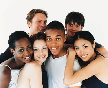 interracial group of friends