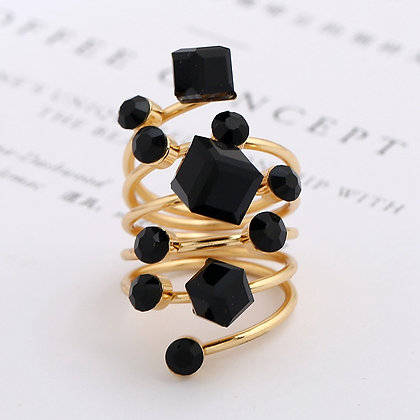 """""""Ally"""" - Cubed Intertwined Ring"""