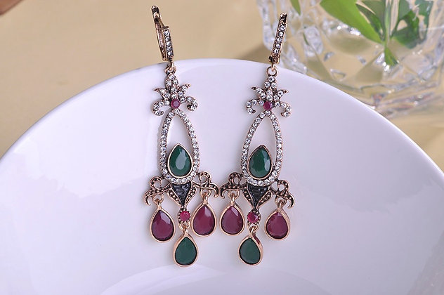 """Eylul"" - Multi Drop Statement Earrings"