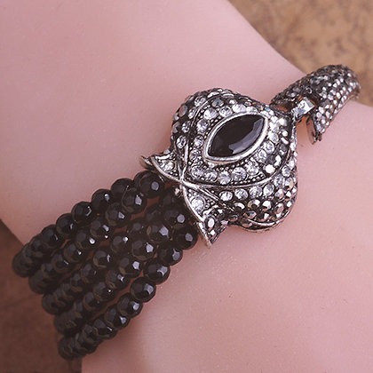 """Shama"" - Royal Antique Onyx Bracelet"